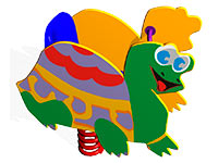 30)Качалка на пружине «Черепаха»
