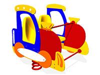 42)Качалка на пружине «Поезд»