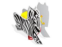 26)Качалка на пружине «Зебра»