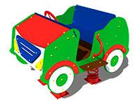 2925)Качалка на четырех пружинах «Кабриолет»