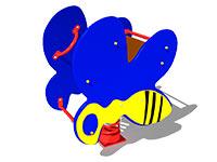 3278)Качалка на пружине «Пчелка»