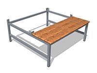 469)Подставка для шкафа 800.500. со скамьей