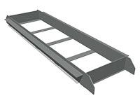 3551)Кассета для бруска отталкивания металлическая