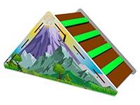 3040)Лесенка-лаз «Вулкан»