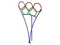 192)Мишень для бросания мяча «Олимпийские кольца»