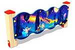 Вид 1 ограждения детской площадки «Космос У2», превью
