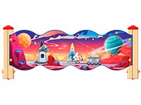3547)Ограждение детской площадки «Космос У3»