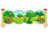 3542)Ограждение детской площадки «Лесной мир У1»