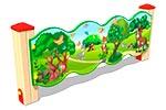 Вид 1 ограждения детской площадки «Лесной мир У1», превью