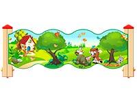 3543)Ограждение детской площадки «Лесной мир У2»