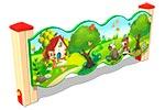 Вид 1 ограждения детской площадки «Лесной мир У2», превью