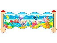 3539)Ограждение детской площадки «Морское Царство У1»