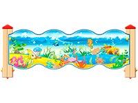 3540)Ограждение детской площадки «Морское Царство У2»