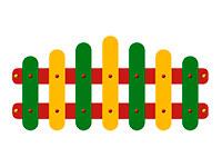 3355)Ограждение детской площадки «Палитра»