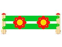 3356)Ограждение детской площадки «Цветок»