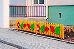 Фото 2 ограждения детской площадки «Божья коровка» эскиз