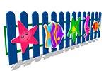 Вид ограждения детской площадки «Море», превью