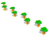 2922)Пеньки «Лягушонок»