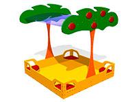 65)Детская песочница «Яблоня»