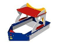 55)Песочница-макет «Кораблик»