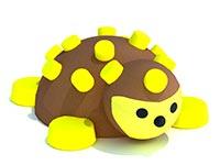3427)3D резиновая фигура «Ёжик» для парков и детских площадок