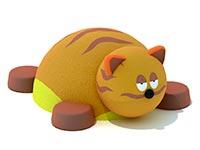 3455)Уличная резиновая фигура «Котик» для детской площадки