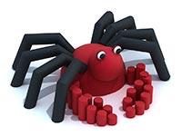 3441)Резиновая фигура 3D для детских площадок «Крабик»