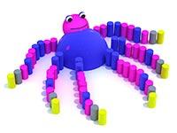 3440)Резиновая фигура 3D для детских площадок «Осьминог»
