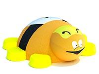 3424)Резиновая 3D фигура «Пчела» для детской площадки