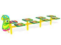 18)Скамейка детская разновысокая «Гусеница»