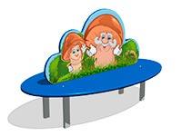 254)Скамейка детская «Грибок»