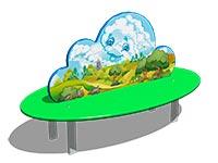 244)Скамейка детская «Облако»