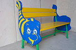 Скамейка детская «Рыбка» в синем цвете превью