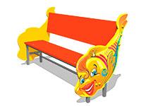 232)Скамейка детская «Рыбка»