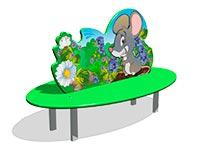 3501)Скамейка детская «Мышонок»
