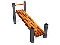 2859)Скамья для пресса наклонная ВБ-200Б