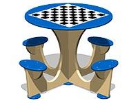 3560)Стол шахматный М4 (детский)