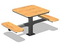 3576)Стол уличный со скамьями М2