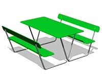 3578)Стол уличный со скамьями М4