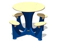 3579)Стол уличный со скамьями М5