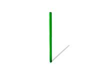 Столб 30.30.980 для газонного ограждения металлический эскиз