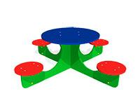 3293)Детский столик «Крестик»