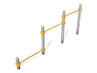 2261)Тройной каскад турников для отжиманий и подтягивания ВА002