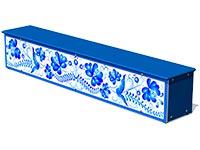 3695)Ящик-скамья для теневых навесов «Гжель М1»