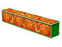 3687)Ящик-скамья для теневых навесов «Хохлома»