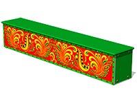 3694)Ящик-скамья для теневых навесов «Хохлома М1»