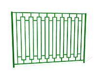 Забор металлический сварной ОЗ-13 эскиз