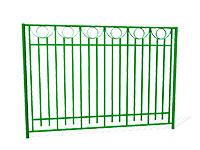 Забор металлический ОЗ-28 эскиз
