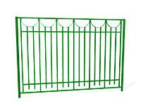 Забор металлический ОЗ-29 эскиз