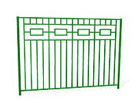 Забор металлический ОЗ-4 эскиз